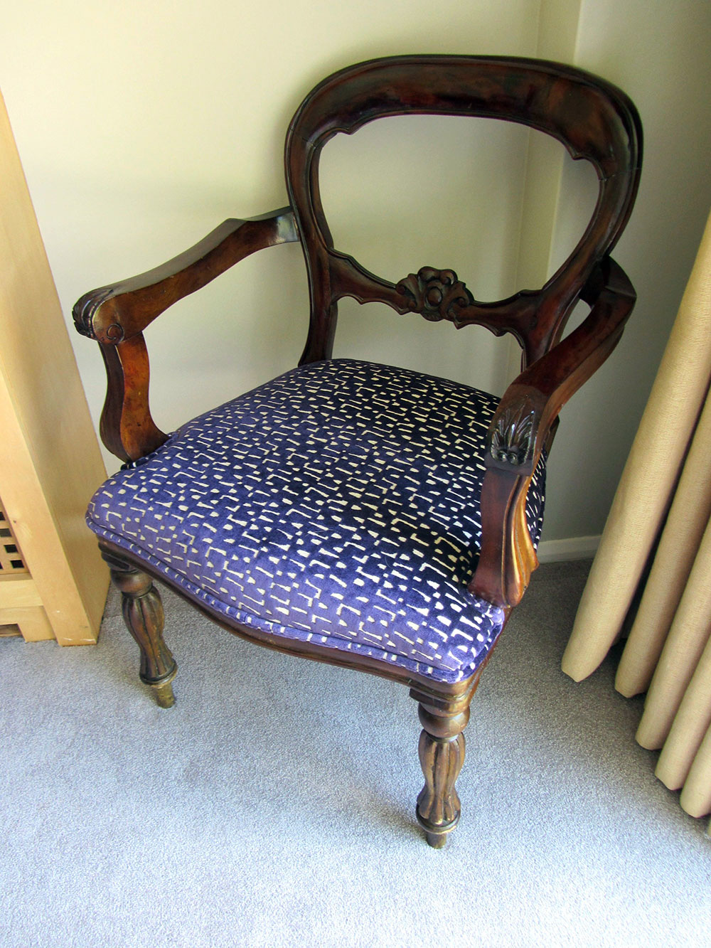 A Haines upholstered chair Cobham House