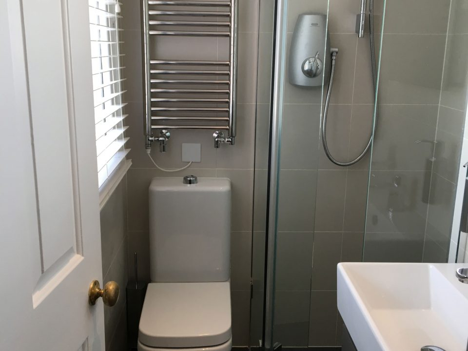 The wet room of a house in Ealing, west London, designed by Alison Morton Interiors